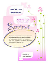 spring event flyer template printable flyers in word publish on