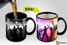 Coffee Magic cortunex amazing new heat sensitive color changing coffee mug