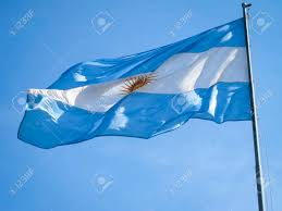 Argentina Flag Photo Argentina Flag On A Pole With The Inca Sun In The Middle Stock