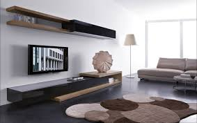 awesome dark brown wood glass cool design led tv unit best home