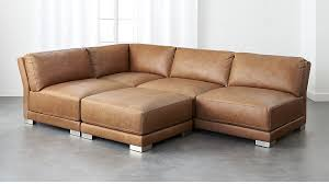 Gybson Brown Leather Sectional Sofa CB - Sectionals leather sofas