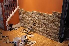 decorating lowes airstone installation between the book rack for