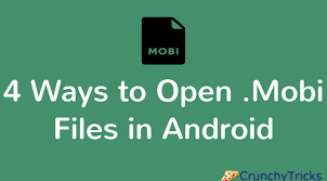 mobi reader for android 4 ways to open mobi files in android