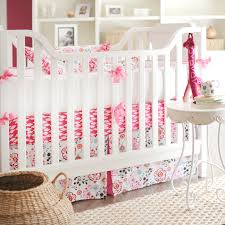 Bright Pink Crib Bedding by Nursery On A Budget Project Nursery