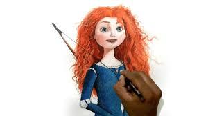 draw cartoon cute princess merida brave