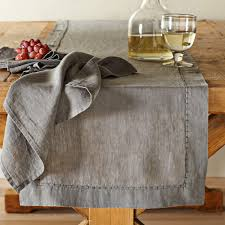Williams Sonoma Table Linens - linen table runners color elegant and affordable linen table