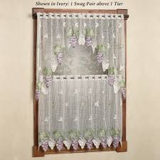 Cafe Tier Curtains Decoration Cafe Curtains Curtain Tiers Panels Kitchen
