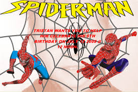 Spiderman Invitation Cards Tristans 5th Birthday Invitation Digital Scrapbooking At