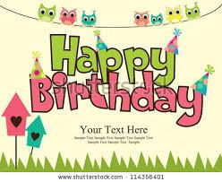 birthday card design free vector stock graphics