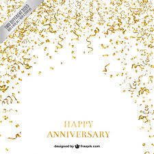 wedding anniversary backdrop confetti and serpentine anniversary background vector free