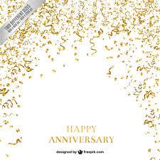 confetti and serpentine anniversary background vector free