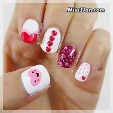 missjjan u0027s beauty blog valentine u0027s day nail art 5 easy