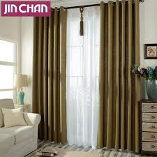 solid dark green linen blackout window curtains drapes shades for