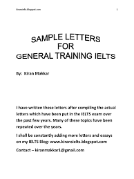 Letter For Vacation Request Ielts Sample Letters By Kiran Makkar Employment Business