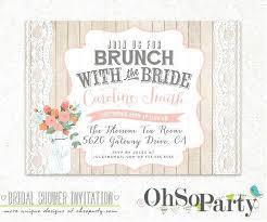 bridal shower invitations brunch bridal shower brunch invitations plus shabby brunch custom bridal