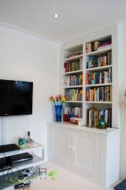 Built In Bookshelves Bespoke Bookcases London Furniture by ƹӝʒ Alcove Units Ideas Gallery 5 North London Uk Avar
