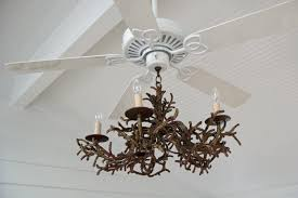 lamps 6 light ceiling fan chandelier in satin nickel finish for