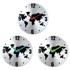 Giant Wall Clock Wall Clock Large Rustic Wall Clock With World Map Design Wall