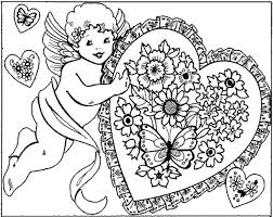 valentines color page flower coloring pages for adults day coloring pages valentine