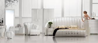 sea shell white tufted leather platform bed