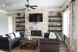 livingroom shelves diy floating shelves for my living room shanty 2 chic