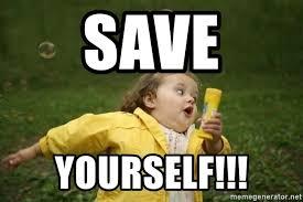 Running Girl Meme - save yourself little girl running away meme generator