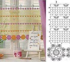 Crochet Kitchen Curtains by Once Upon A Pink Moon Put The Hook Down Crocheting