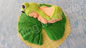 frog baby shower cake topper fondant baby frog baby shower or birthday