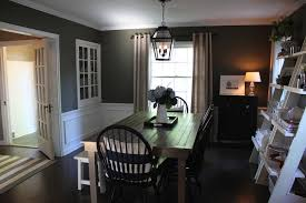 gray walls dark floors wainscoting dining room pinterest