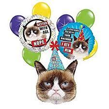 birthday balloon bouquet grumpy cat 9 pc birthday balloon bouquet toys