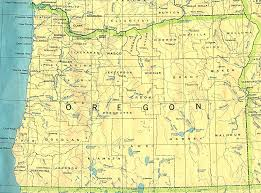 Map Of Central Oregon by Map Of Oregon