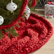 cozy knit tree skirt crate and barrel