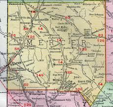 mercer map mercer county pennsylvania 1911 map by rand mcnally