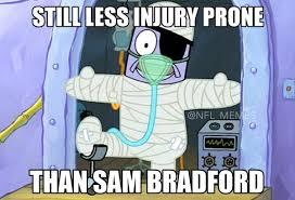 Sam Bradford Memes - nfl memes on twitter sam bradford out of the season again http