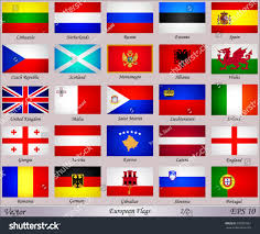 Flags Of European Countries Flags Europe Names Countries Stock Vector 232857961 Shutterstock
