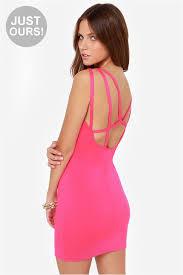 pink dress bodycon dress cage dress 42 00
