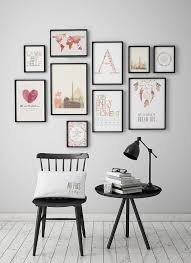 Home Interior Wall Hangings Best 25 Art Walls Ideas On Pinterest Hallway Bench Gallery