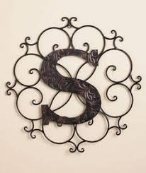 ironwork with monogram i already the iron crafts