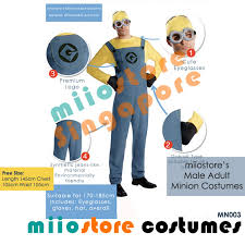 minion costumes rent minion costumes singapore miiostore affordable costume