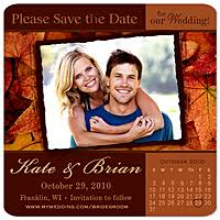 Save The Date Wedding Magnets Save The Date Magnets Autumn U0026 Fall