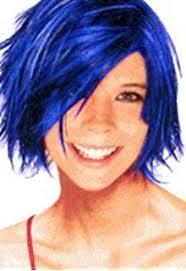 amazon spray wash blue hair color temporary hairspray