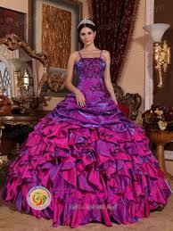 fuchsia quinceanera dresses discount purple and fuchsia ruffled quinceanera dress with