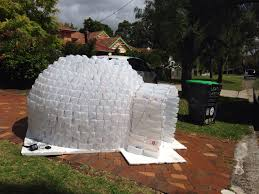 day shot of milk bottle igloo crazy christmas crafts my own