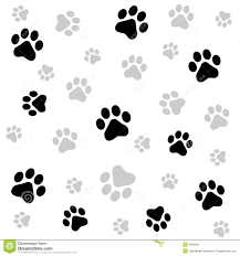 puppy paw prints background