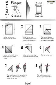 Origami Paper Claws - origami claws easy origami