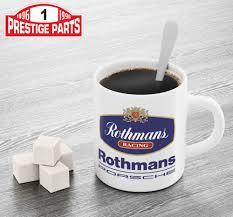 rothmans porsche logo rothmans racing tea or coffee mug ebay