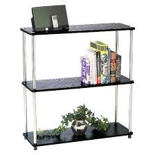 3 tier bookshelf black convenience concepts target