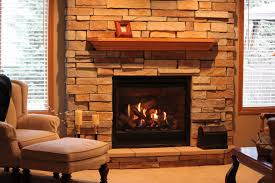 interior fireplace design idea with brown brick wall combine with