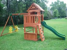 Backyard Adventure Playset by Backyard Discovery Atlantis Cedar Wooden Swing Set Walmart Com