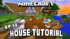 minecraft tutorial modern house deck design with exterior